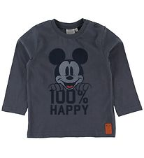 Wheat Disney Long Sleeve Top - Mickey - Greyblue