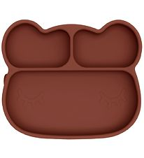 We Might Be Tiny Plate - Bear - Silicone - Rust