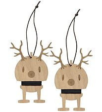 Hoptimist Christmas Ornament - Reindeer - 2-Pack - 13,5 cm - Oak