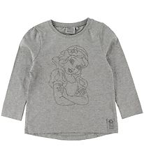 Wheat Disney Long Sleeve Top - Snow White - Melange Grey