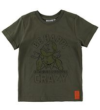 Wheat Disney T-Shirt - Happy - Army Leaf