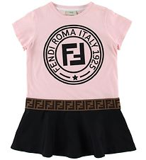 Fendi Dress - Rose/Black w. Logo