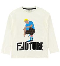 Fendi Long Sleeve Top - Off White w. Boy