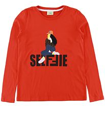 Fendi Long Sleeve Top - Red w. Girl