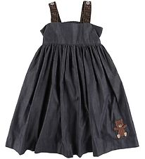 Fendi Dress - Denim - Navy w. Logo/Teddybear