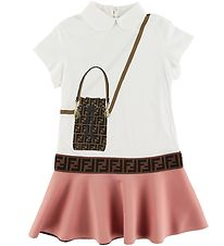 Fendi Dress - White/Rose w. Bag