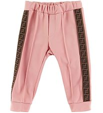 Fendi Trousers - Rose w. Logo Stripe