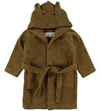 Liewood Bathrobe - Lily - Rabbit Olive Green