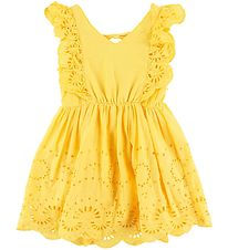 Name It Dress - NkfFelicity - Aspen Gold w. Pointelle Embroidery