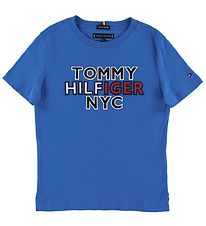 Tommy Hilfiger T-shirt - NYC Graphic - Blue w. Text