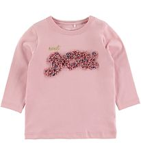 Name It Long Sleeve Top - NbfFlavia - Pink Nectar w. Flowers