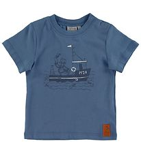 Wheat Disney T-shirt - Captain Donald Duck - Blue Horizon