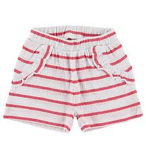 Name It Shorts - NbfHollie - Claret Red w. Stripes