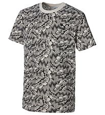 Puma T-shirt - Silver Birch w. Flowers