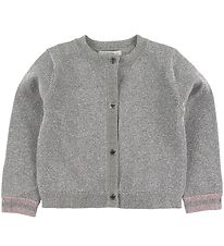 Stella McCartney Kids Cardigan - Silver w. Glitter