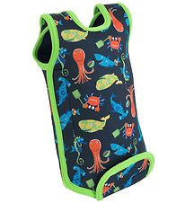 Konfidence Wet Suit - BabyWarma - Sea Friends Navy/Lime