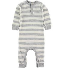 Joha Jumpsuit - Wool - Grey Melange w. Stripes