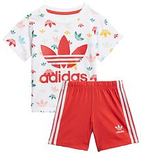 adidas Originals Set - Shorts/T-shirt - White w. Multi Print