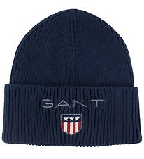 GANT Hat - Knitted - Medium Shield - Evening Blue