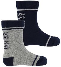 BOSS Socks - 2-Pack - Navy/Grey Melange