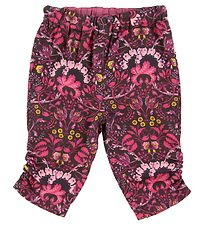 Noa Noa Miniature Trousers - Brown w. Flowers