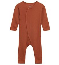 Hust and Claire Jumpsuit - Messi - Wool/Bamboo - Burnt Orange