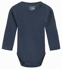 Hust and Claire Body l/s - Berry - Wool/Bamboo - Navy