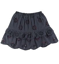 Soft Gallery Skirt - Fern - Anthracite w. Flowers