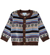 Noa Noa Miniature Cardigan - Knit - Blue/Brown