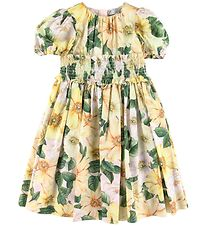 Dolce & Gabbana Dress - Power Pastel - Yellow w. Flowers
