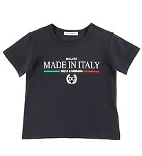 Dolce & Gabbana T-shirt - DNA Jr - Navy w. Print