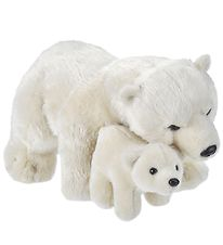 Wild Republic Soft Toy - 34x20 cm - Mother & Baby - Polar bear