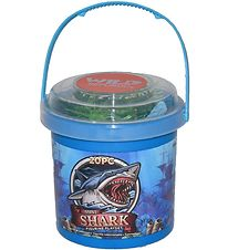 Wild Republic Bucket w. Animals - Mini - 20 pcs. - Sharks