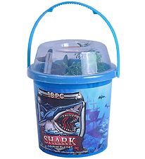 Wild Republic Bucket w. Animals - 18 pcs. - Sharks