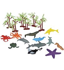 Wild Republic Bucket w. Animals - Mini - 18 pcs. - Animals of th