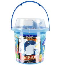 Wild Republic Bucket w. Animals - 32 pcs. - Animals of the Sea