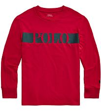 Polo Ralph Lauren Long Sleeve Top - Active - Red w. Black