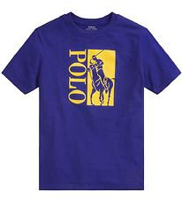 Polo Ralph Lauren T-shirt - Active - Blue  w. Yellow