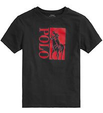 Polo Ralph Lauren T-shirt - Active - Black w. Red