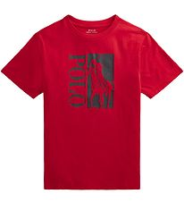 Polo Ralph Lauren T-shirt - Active - Red w. Black