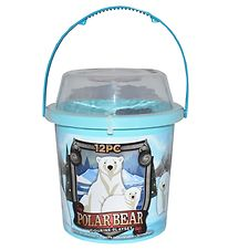 Wild Republic Bucket w. Animals - 12 pcs. - Polar Bear