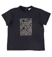 Emporio Armani T-shirt - Navy w. Embroidery
