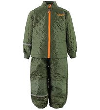 CeLaVi Thermo Set - Olive Green w. Orange