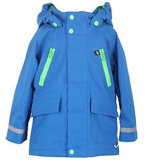 Danefæ Winter Coat - Himmelbjerg - Blue w. Neon Green