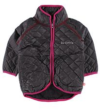 Katvig Thermo Jacket w. Fleece - Charcoal w. Fuchsia