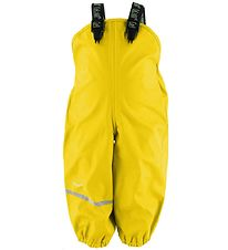 CeLaVi Rain Pants w. Suspenders - PU - Yellow