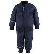 CeLaVi Thermo Set w. Fleece - Coated - Navy