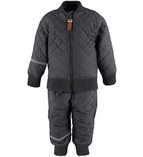 CeLaVi Thermo Set w. Fleece - Coated - Charcoal