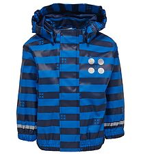 Lego Wear Rain Jacket - Blue/Navy Striped