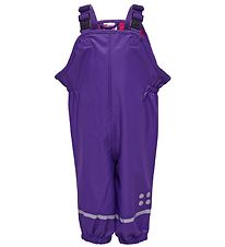 Lego Wear Rain Pants w. Suspenders - Purple